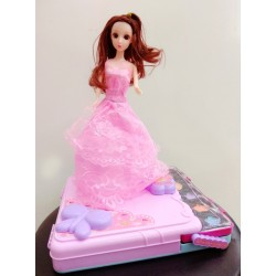 美妝箱 化妝箱 手提化妝玩具 彩妝組 芭比娃娃...